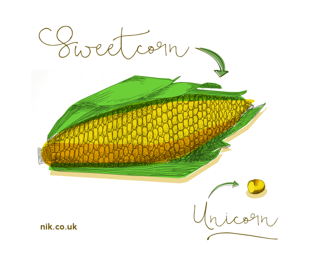 Sweetcorn and unicorn