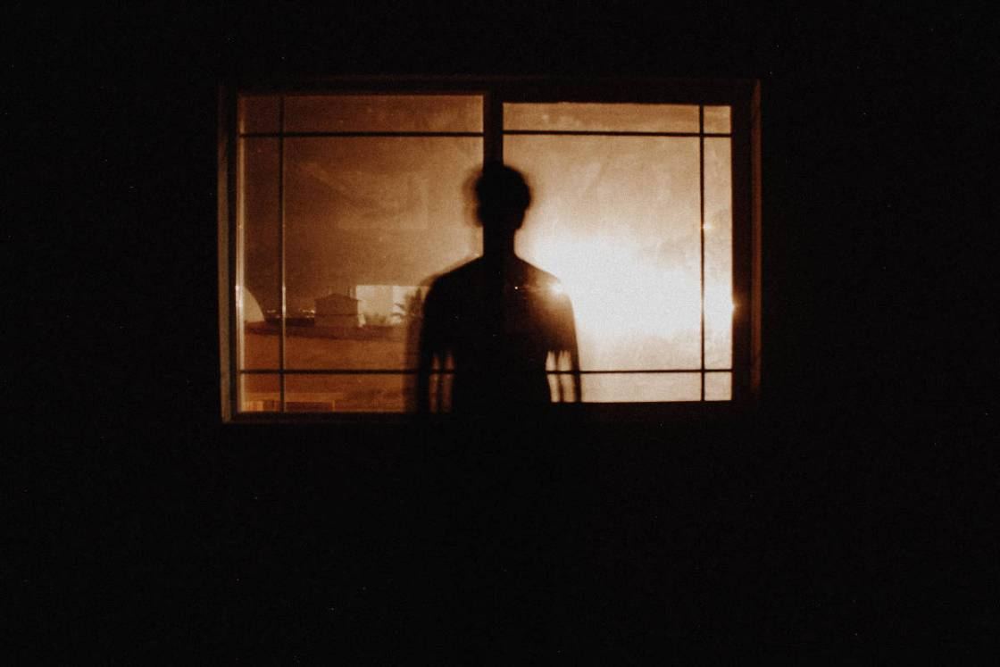 Person at a window