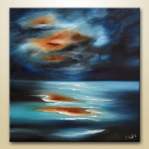 abstract sea ocean painting