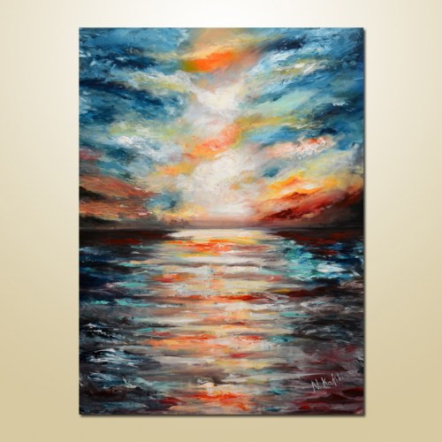 abstract seascape painting-wall art