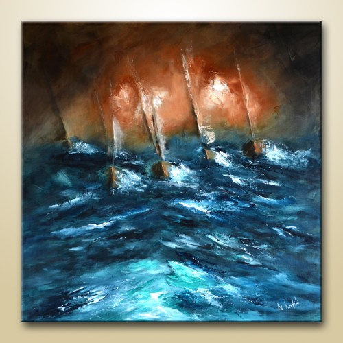 Abstract sea Painting fine art print