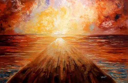 sea painting on canvas