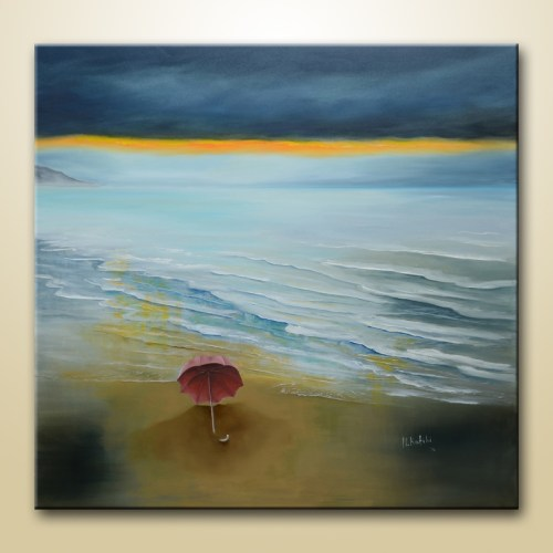 semi abstract seascape painting
