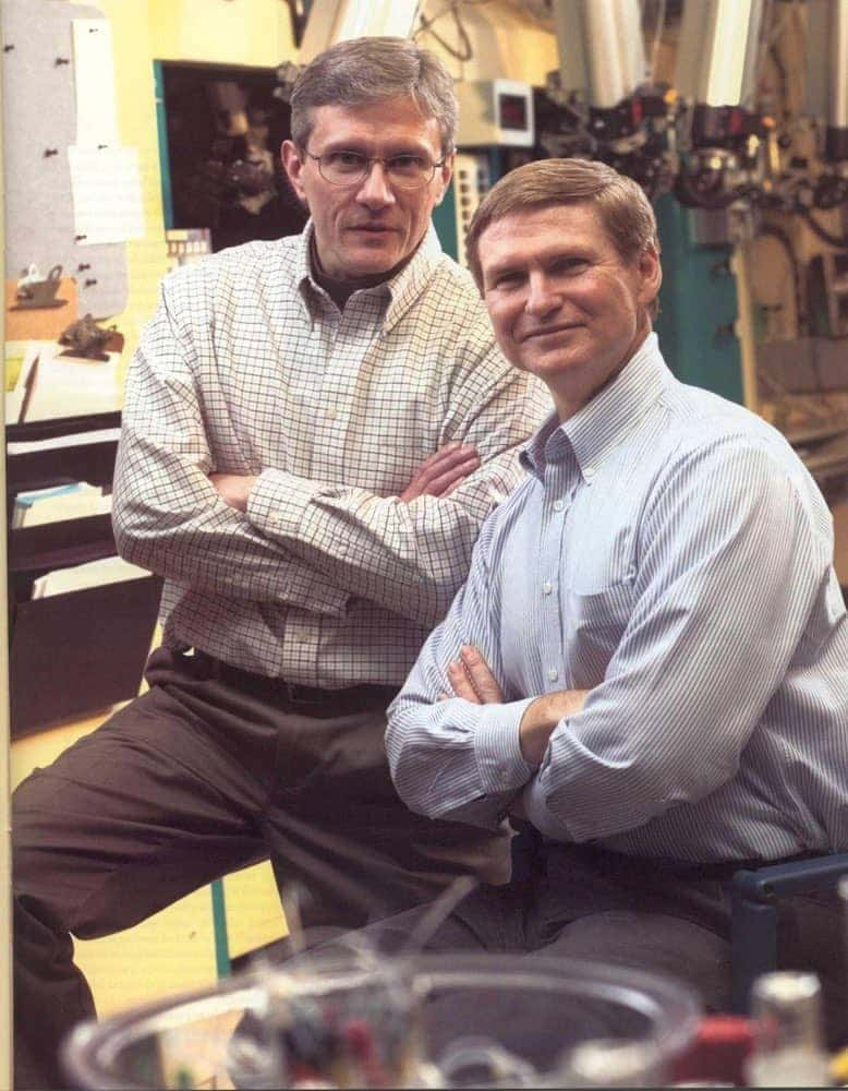 Bill Klunk and Chester Mathis, around the time they discovered Pittsburgh Compound B, which allows researchers to view Alzheimer's in a living brain.