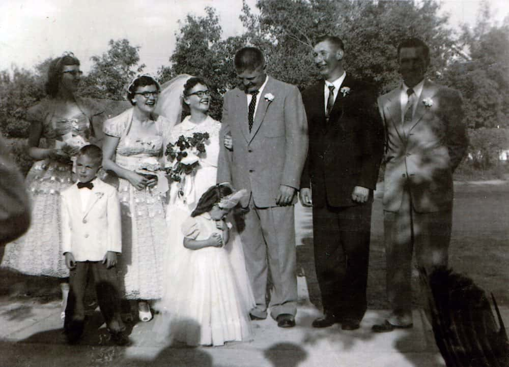 Moe and Gail at their wedding.