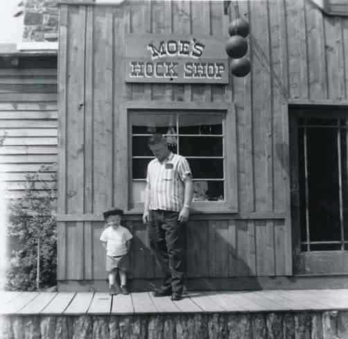 Moe and his son Brian, June 1959.