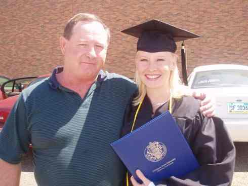 Brian with his daughter, Kassie, at her college graduation.