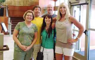 The author (center) with Karla, Dean, Karla's husband, Matt, and Dean's wife, Deb.
