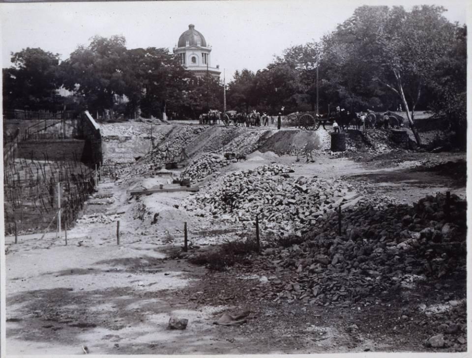 Obras en la Glorieta de San Vicente. 1933.