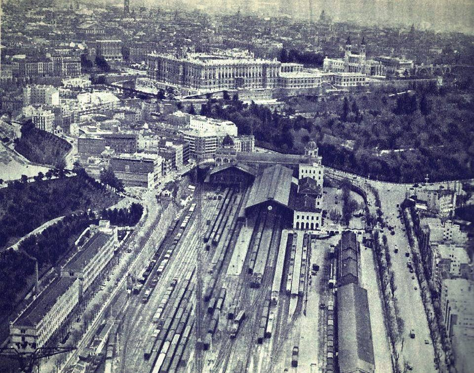 Estación del Norte vista desde el aire. 1959.