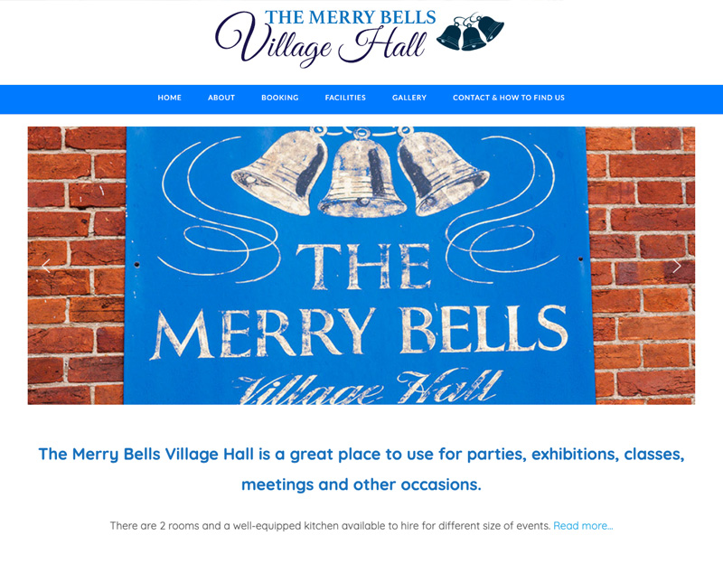 New website for The Merry Bells Village Hall