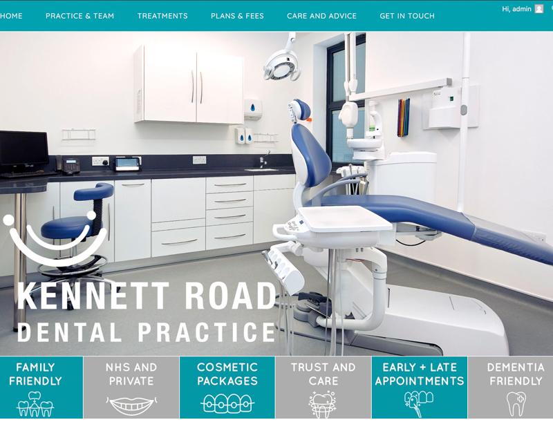 Updated Website for Kennett Road Dental Practice