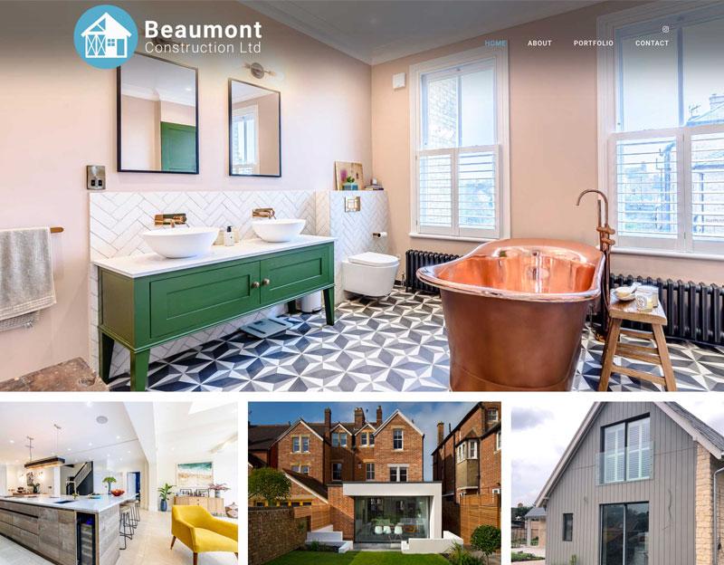 New website for Beaumont Construction Ltd