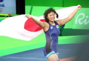 レスリング女子63キロ級で金メダルを獲得した川井=写真 玉井良幸