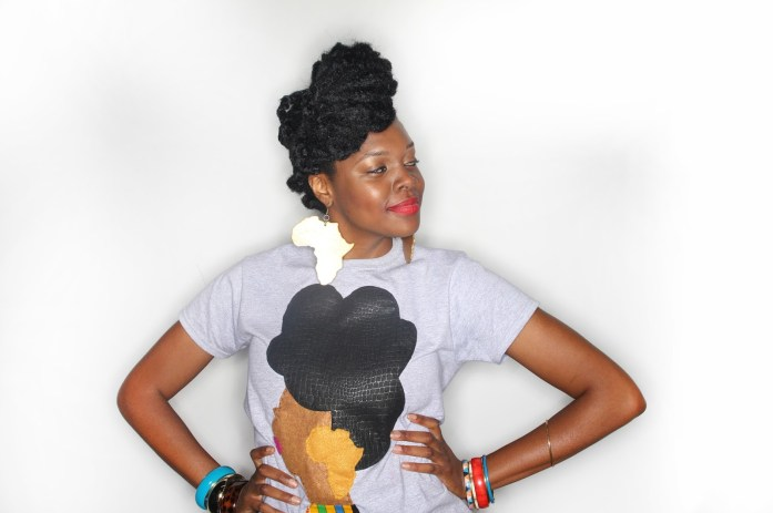 Quelly Rues's %22Naturally Me%22 Tee for the Naturalista Hair Show 2013 11