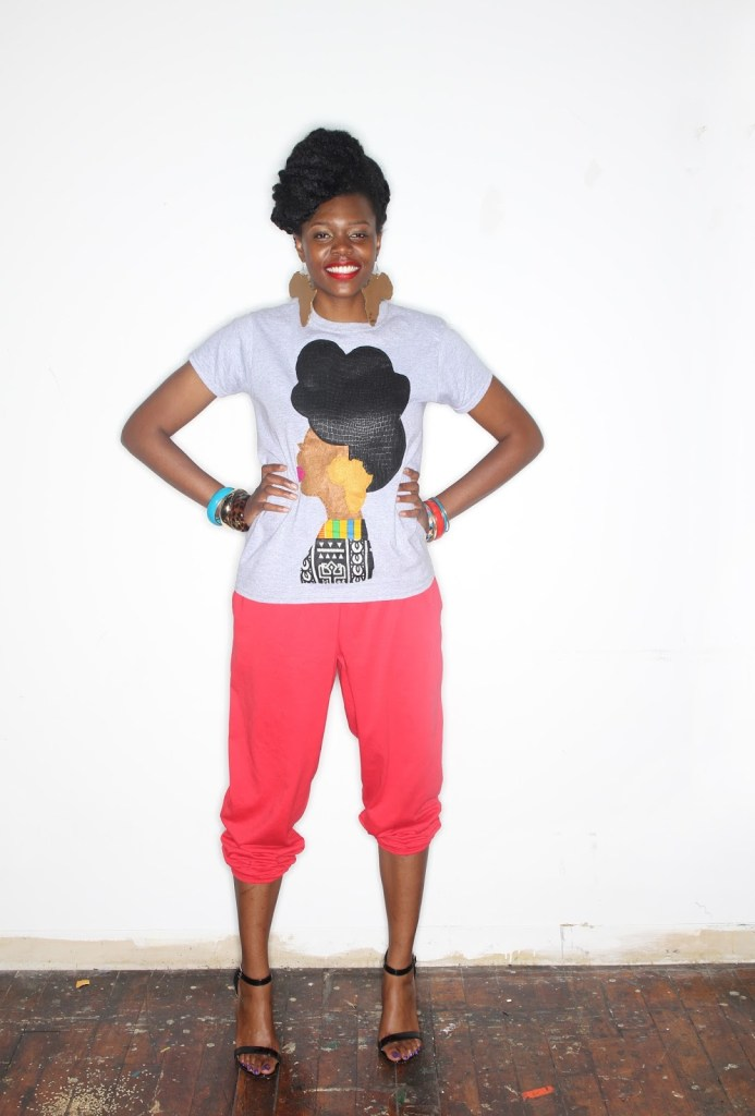 Quelly Rues's %22Naturally Me%22 Tee for the Naturalista Hair Show 2013 6