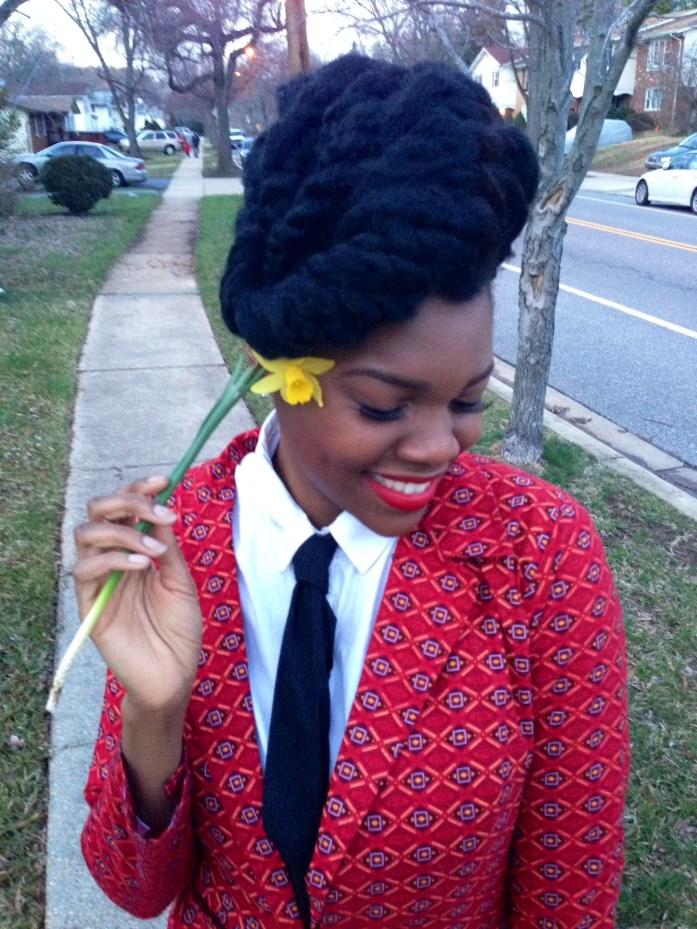 Red Ankara Suit & Tie 8