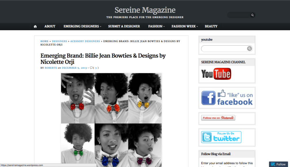 Nikki Billie Jean in Sereine Magazine