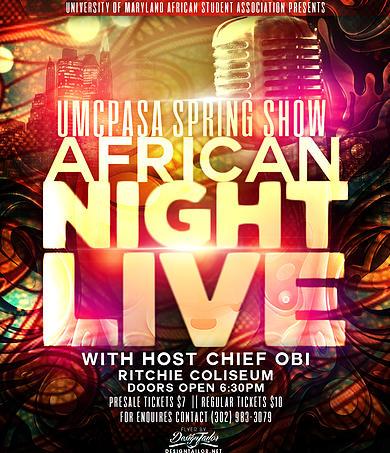 UMCPASA Spring Show Africa Night Live 2014