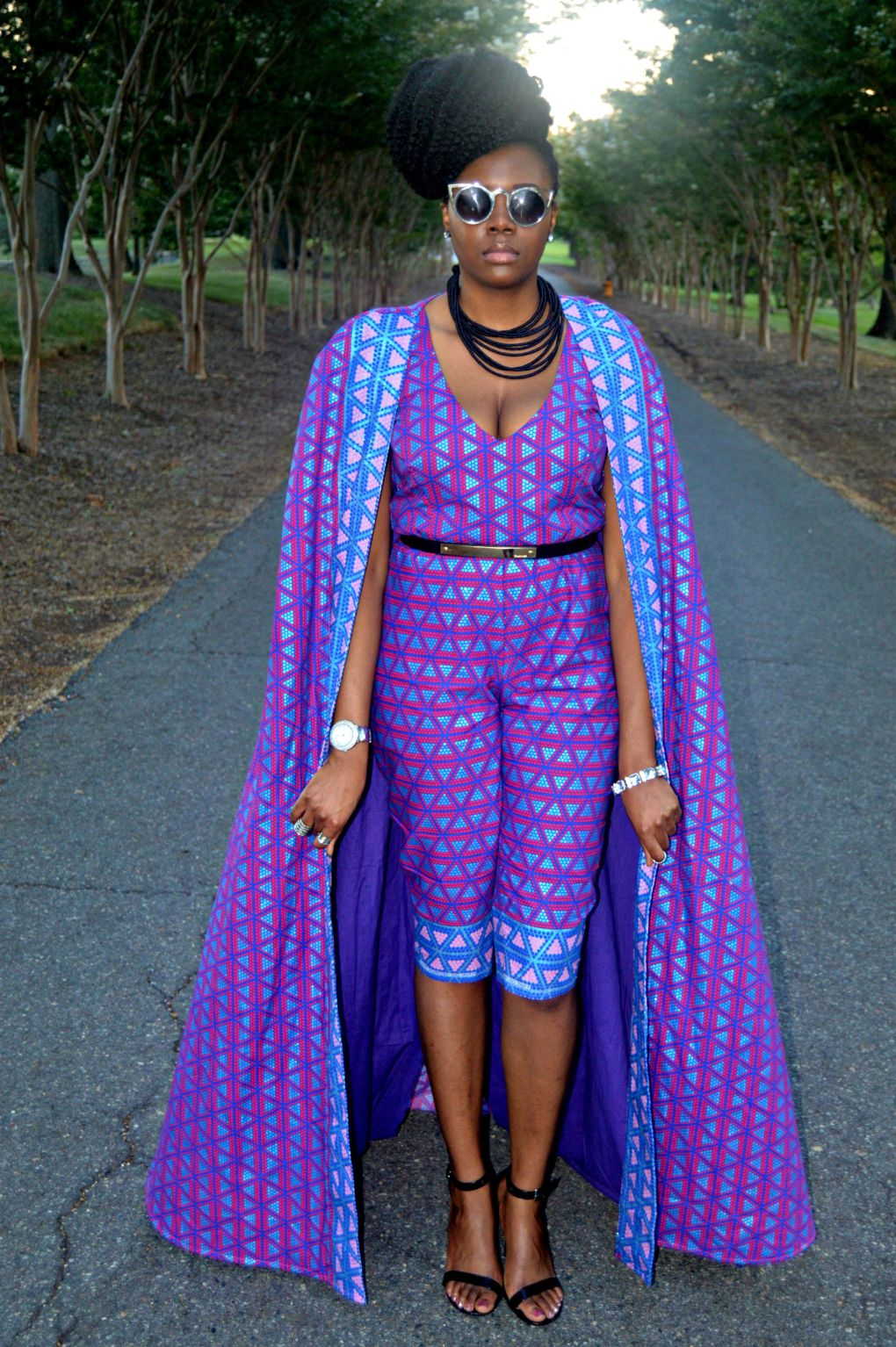 Ankara Print Cape & Capri Jumpsuit for All Things Ankara Fashion Week 2015 8