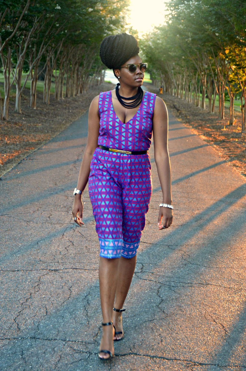 Ankara Print Cape & Capri Jumpsuit for All Things Ankara Fashion Week 2015 9