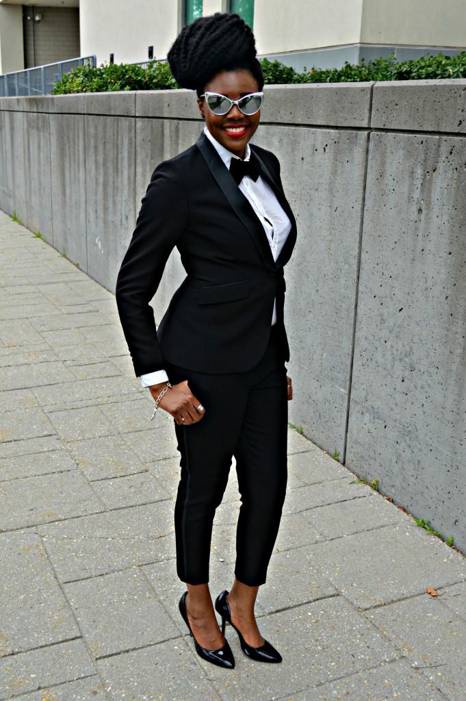 Nikki Billie Jean's H&M Tuxedo Jacket & Pants 7