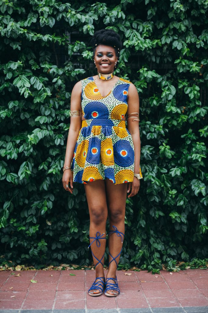 Nikki Billie Jean in LoyWithLove Daisy Dress for All Things Ankara Pop Up 2017 - DMV 6