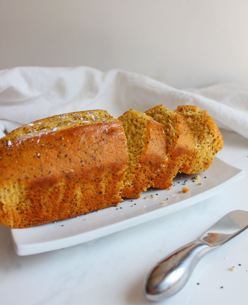 Lemon Poppy seed Loaf - Vegan and Gluten Free