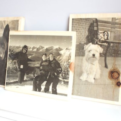 DIY Photos on Wood Plaques - Step by Step video! www.nikkisplate.com