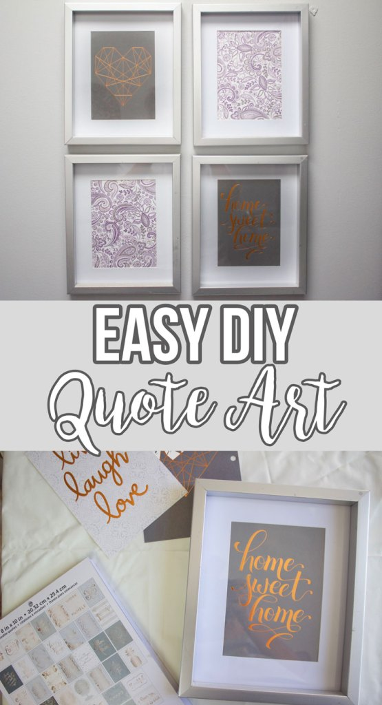 Easy DIY Framed Quotes - www.nikkisplate.com