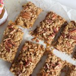 Salted Pecan and Apricot Breakfast Bars
