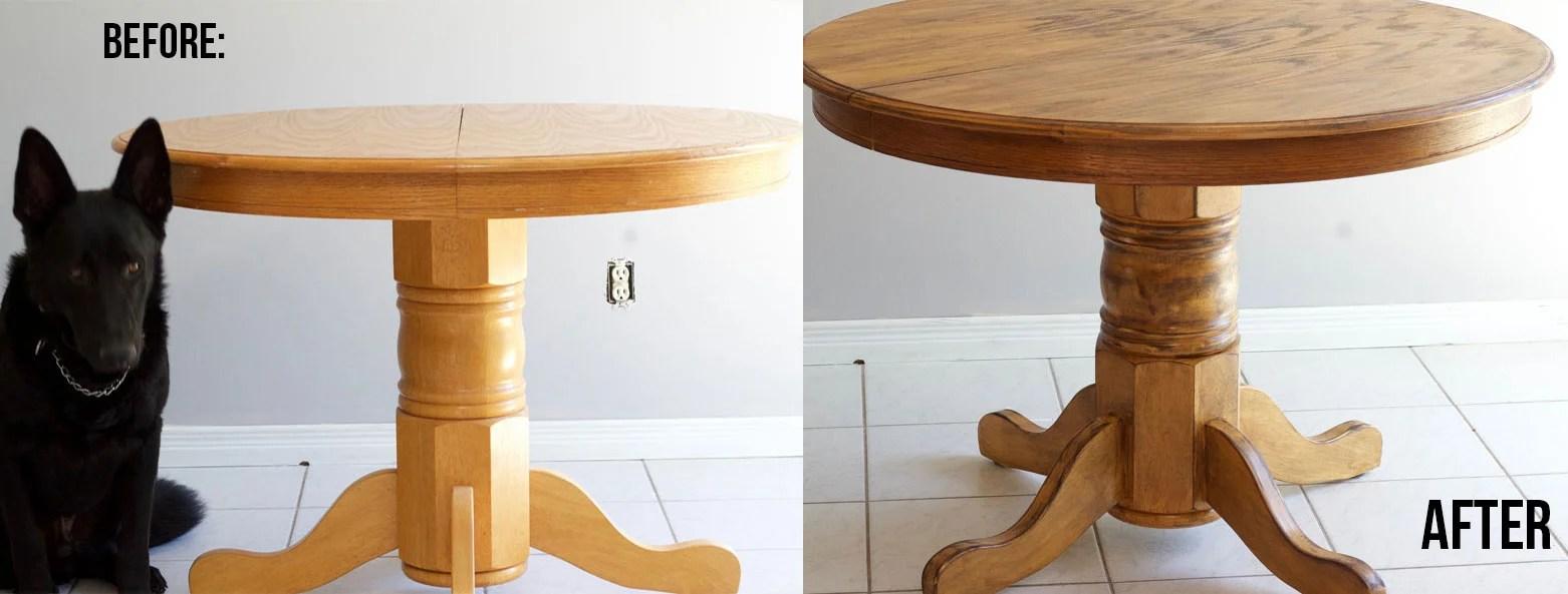DIY Farmhouse Kitchen Table Transformation - Nikki\'s Plate