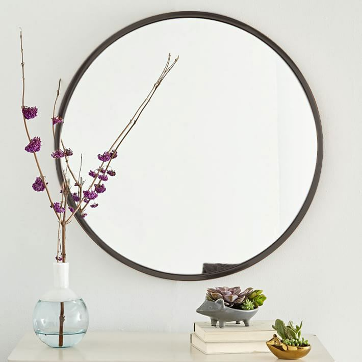 West Elm Metal Round Mirror