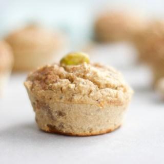 Pistachio Protein Muffins {Gluten Free + Vegan} - www.nikkisplate.com