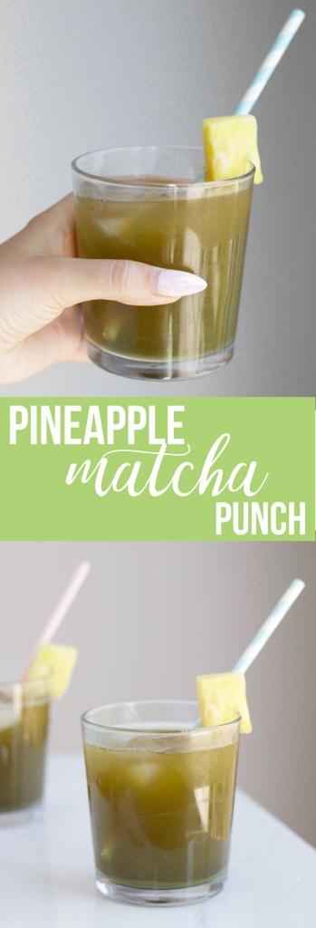 Pineapple Matcha Punch - Nikki's Plate