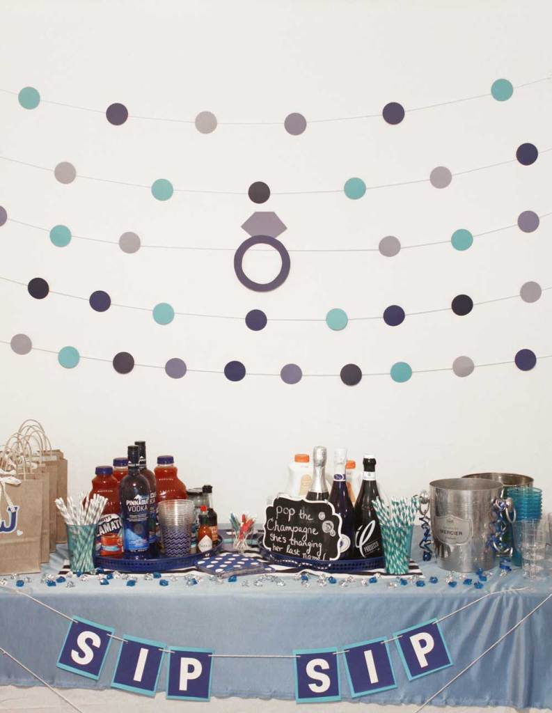 Blue Bachelorette Party Decorations for the Bride to Be! - www.nikkisplate.com