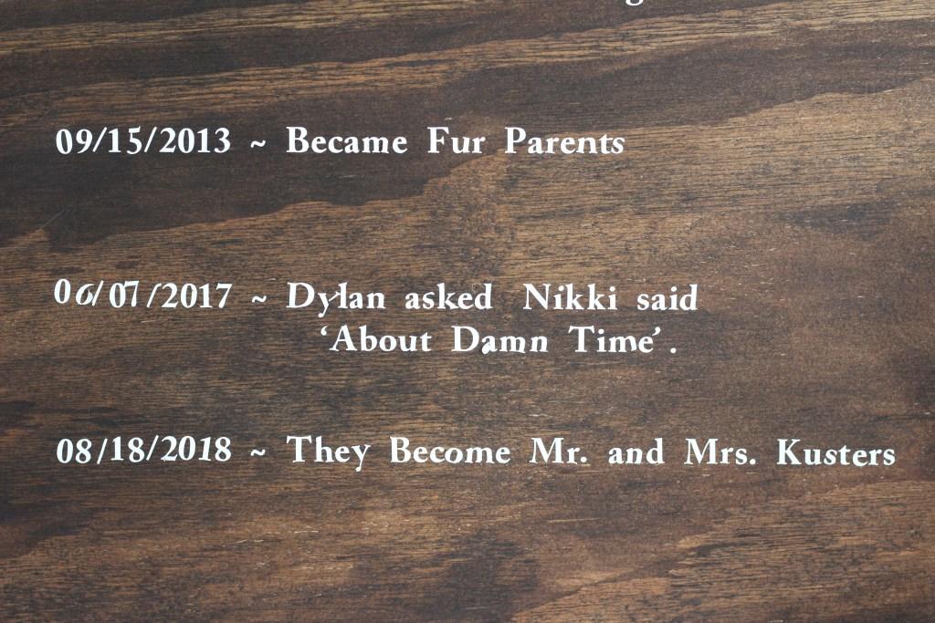 "DIY ""Our Love Story"" Sign - Nikkisplate"