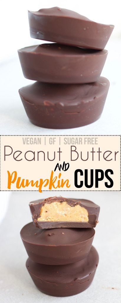 Pumpkin Peanut Butter Cups {Vegan, Gluten free, Healthy, Sugar-free} - www.nikkisplate.com