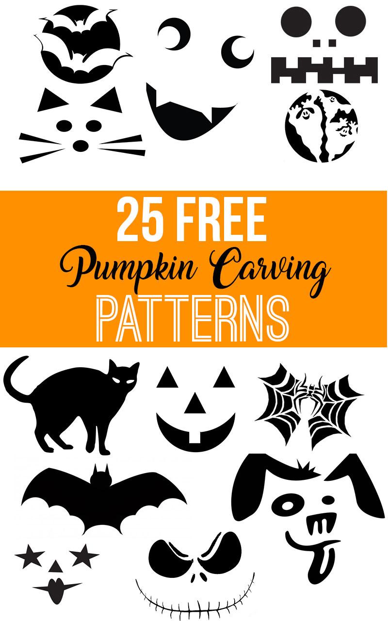 Free Printable Pumpkin Carving Patterns Nikkis Plate - Pumpkin-carving-patterns-free