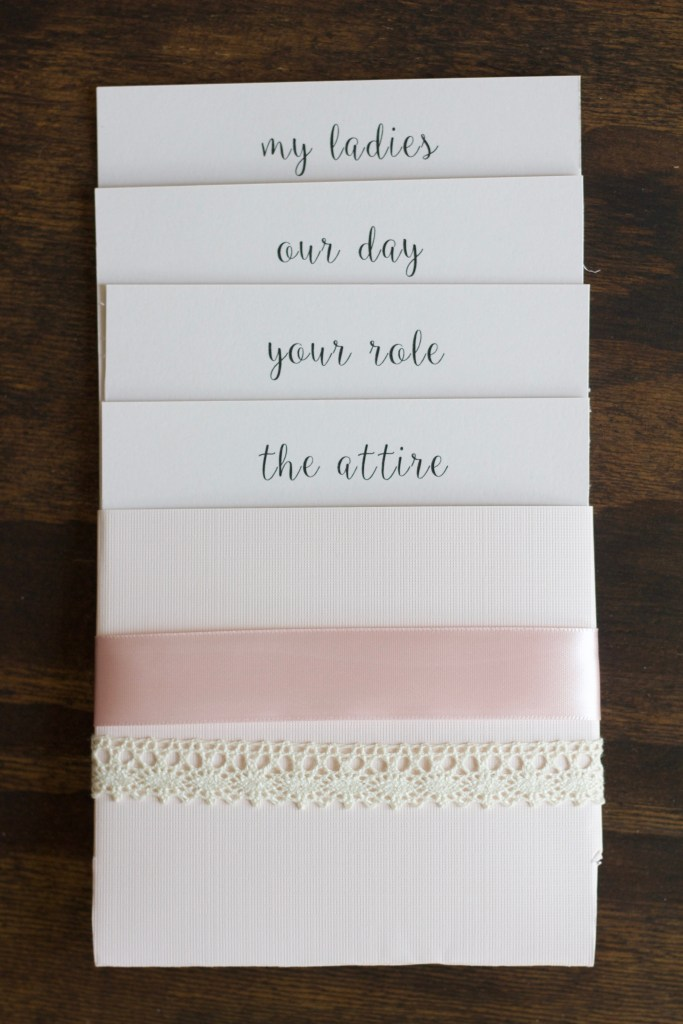 These bridesmaid proposal cards have all the details for your wedding day