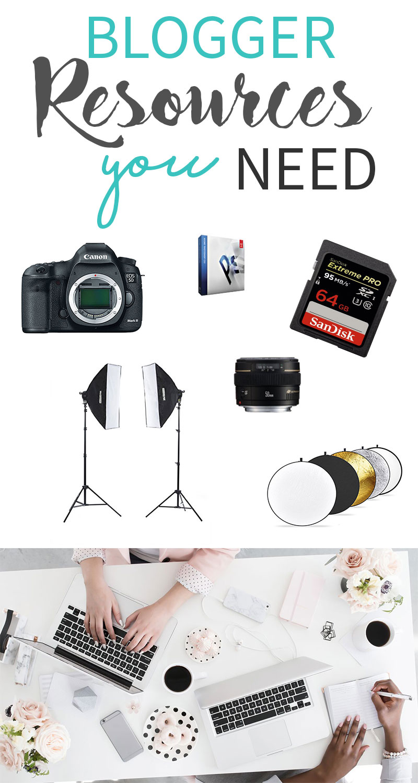 Blogger Resources You Need! || Blogging, Canon, DSLR, Photoshop, Lightbox, Reflector, Lens || www.nikkisplate.com