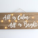 DIY Christmas Light Up Sign || Easy fun craft decor for the holidays! - Nikki's Plate