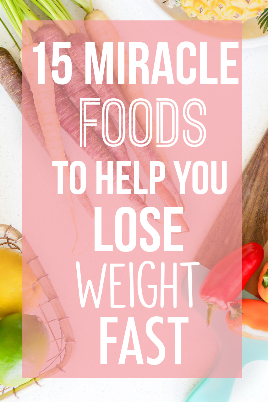 15 Miracle foods to help you lose weight fast || Healthy superfoods that work to burn your body fat and shed your weight. How foods like apple cider vinegar, chia seeds, chili pepper, hemp seeds, coconut water and grapefruit work to burn your fat and help you lose those pounds! || Nikki's Plate