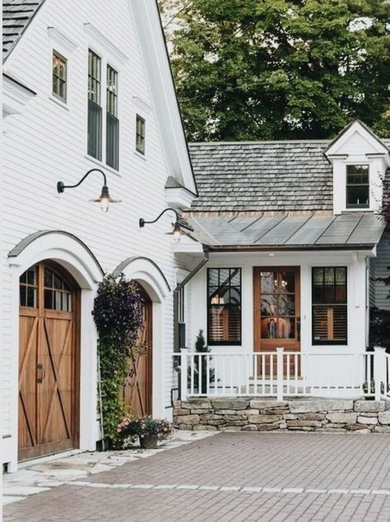 Top 10 Farmhouse Exteriors You NEED To See; 10 country inspired houses to fuel your home designs addictions.