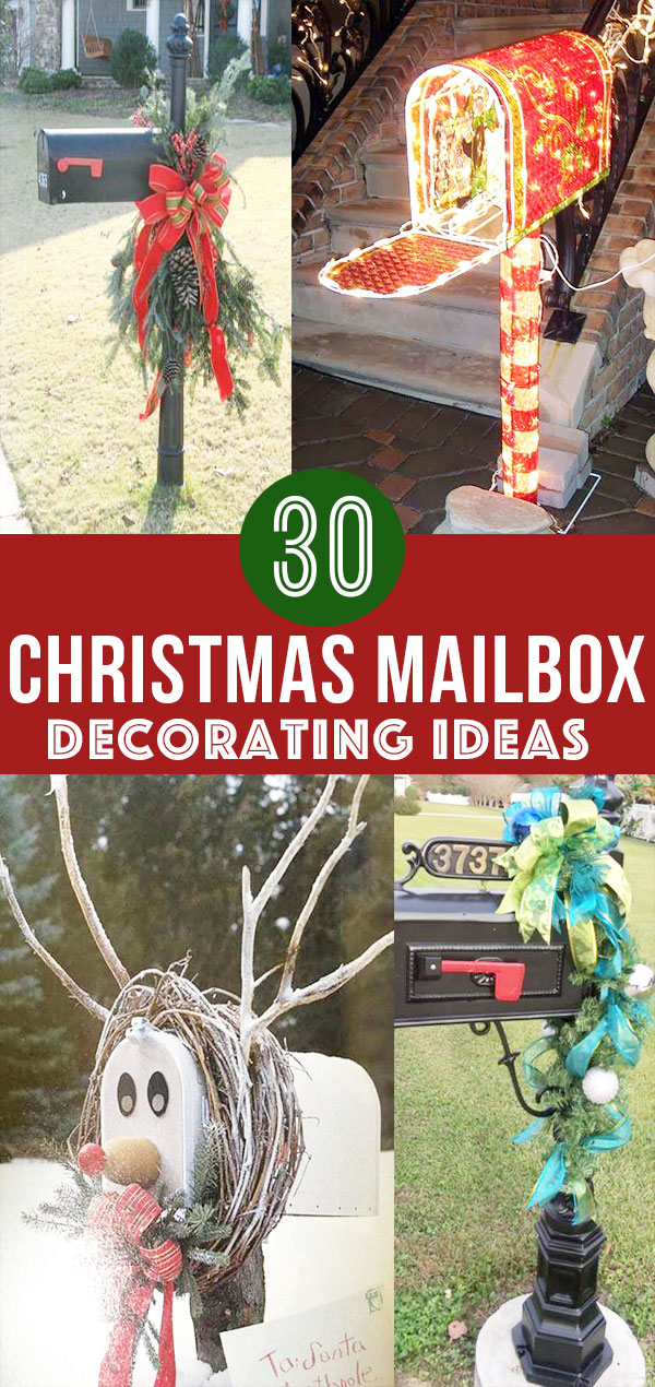 30 Christmas Mailbox Decoration Ideas Nikki S Plate