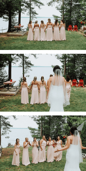 My wedding in review - outdoor wedding, bride, bridesmaids, ceremony, wedding dress, bridesmaids first view, dress reveal