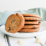 Chocolate Chunk Macadamia Cookies {GF + Vegan}