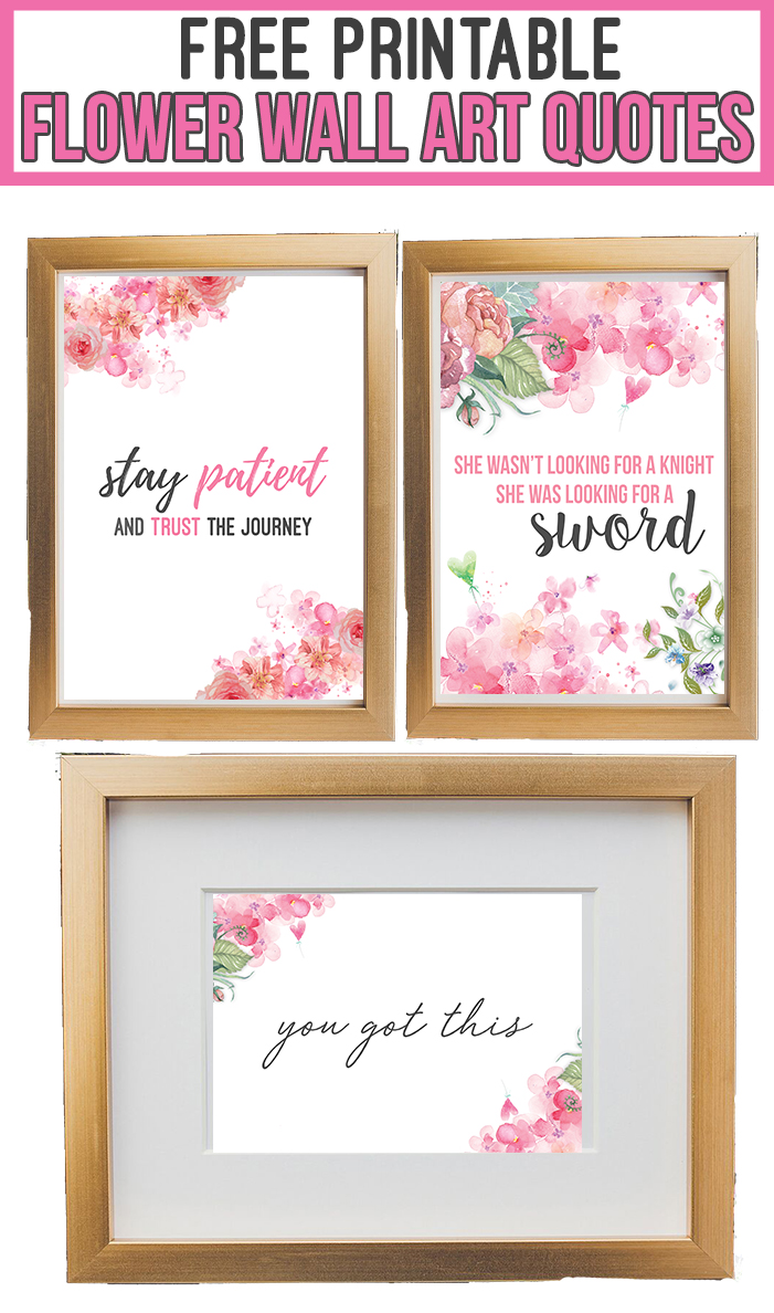 photograph regarding Free Printable Wall Art Quotes identified as 13 No cost Printable Flower Wall Artwork Offers - Nikkis Plate