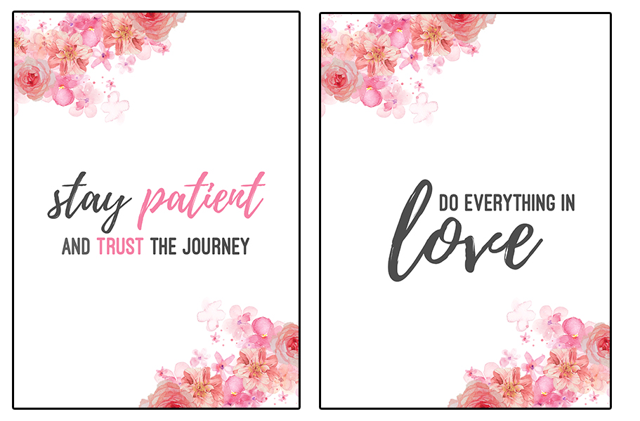 13 Free Printable Flower Wall Art Quotes - Nikki's Plate