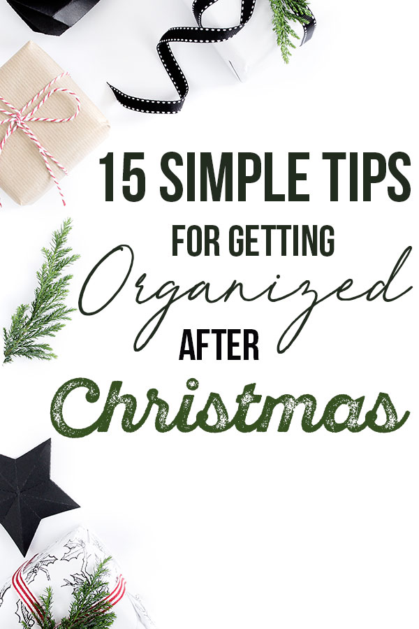 Getting organized after Christmas can be hard, but it doesn't have to be! With these tips, you can easily put your life back together once the holiday season is over! #organized #christmas #afterchristmas #organization || Nikki's Plate